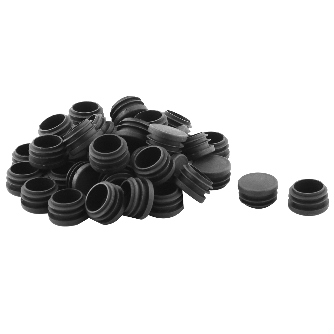 Desk Chair Feet Round Shaped Tube Pipe Inserts End Caps Covers 40 PCS