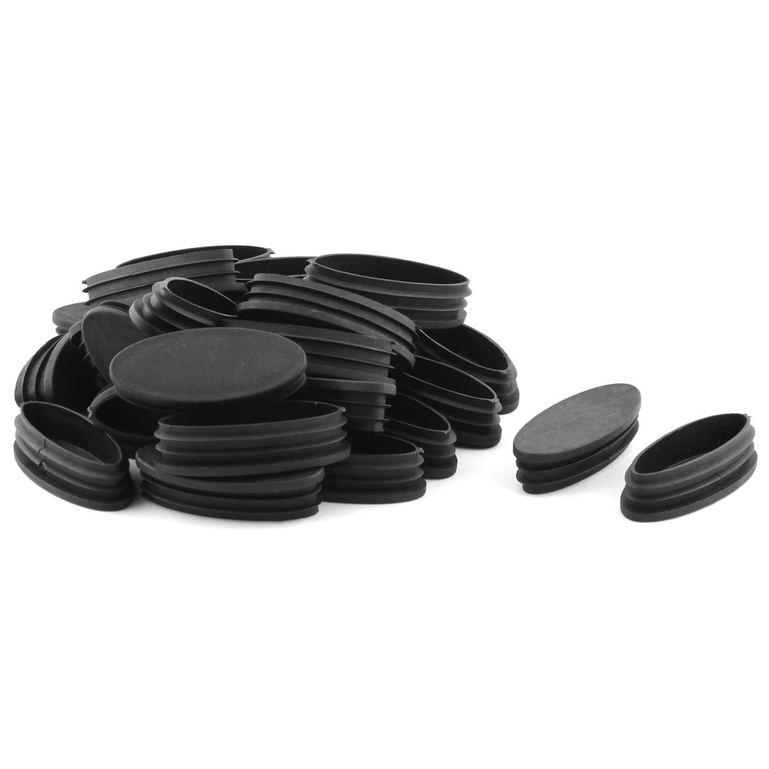 Home Office Plastic Oval Shaped Furniture Table Chair Leg Tube Insert 30 Pcs