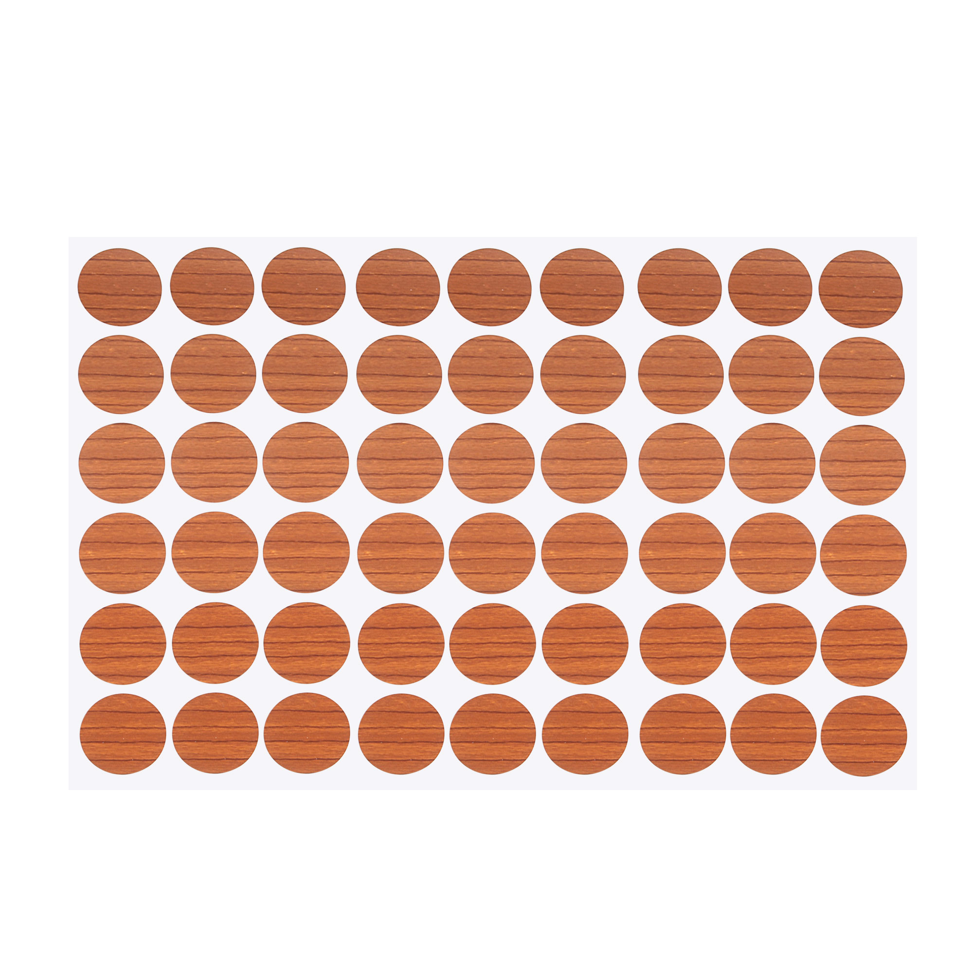 Furniture Self-adhesive Screw Hole Stickers Covers Brown One Sheet 54 in 1