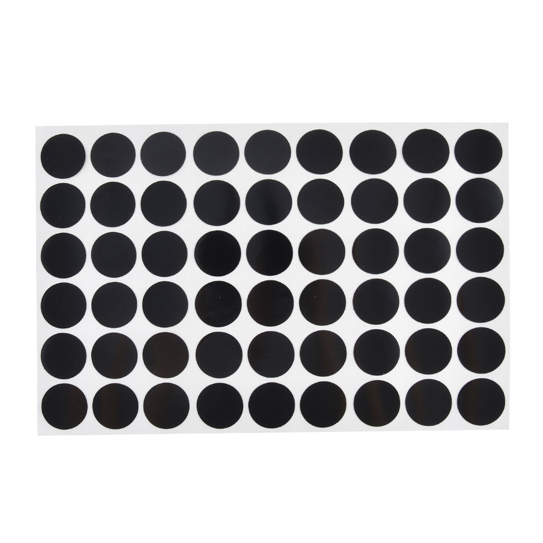 Furniture Self-adhesive Screw Hole Stickers Covers on One Sheet Black 54 in 1