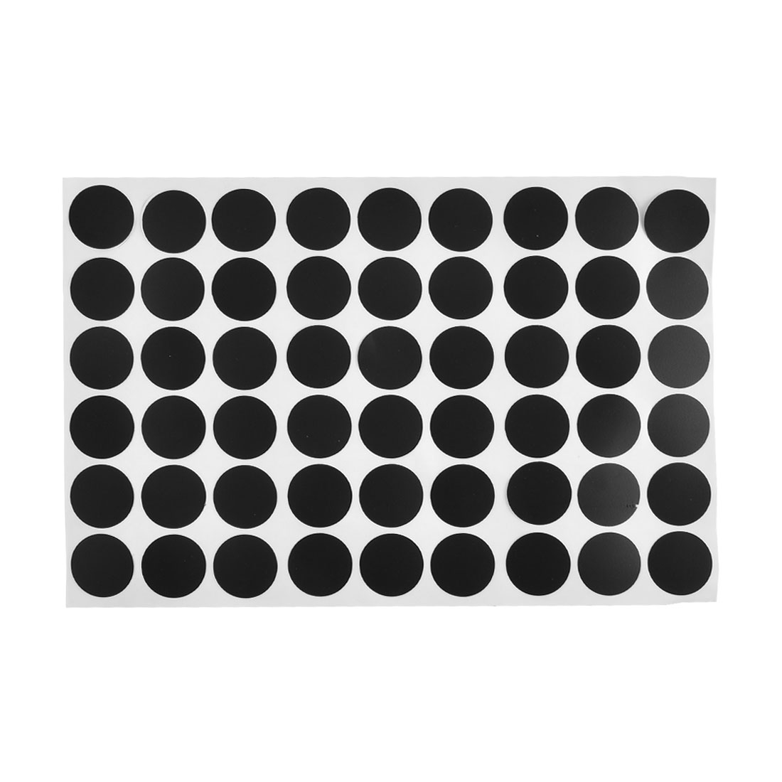 21mm Dia Furniture Self-adhesive Screw Hole Stickers Covers Matte Black 54 in 1