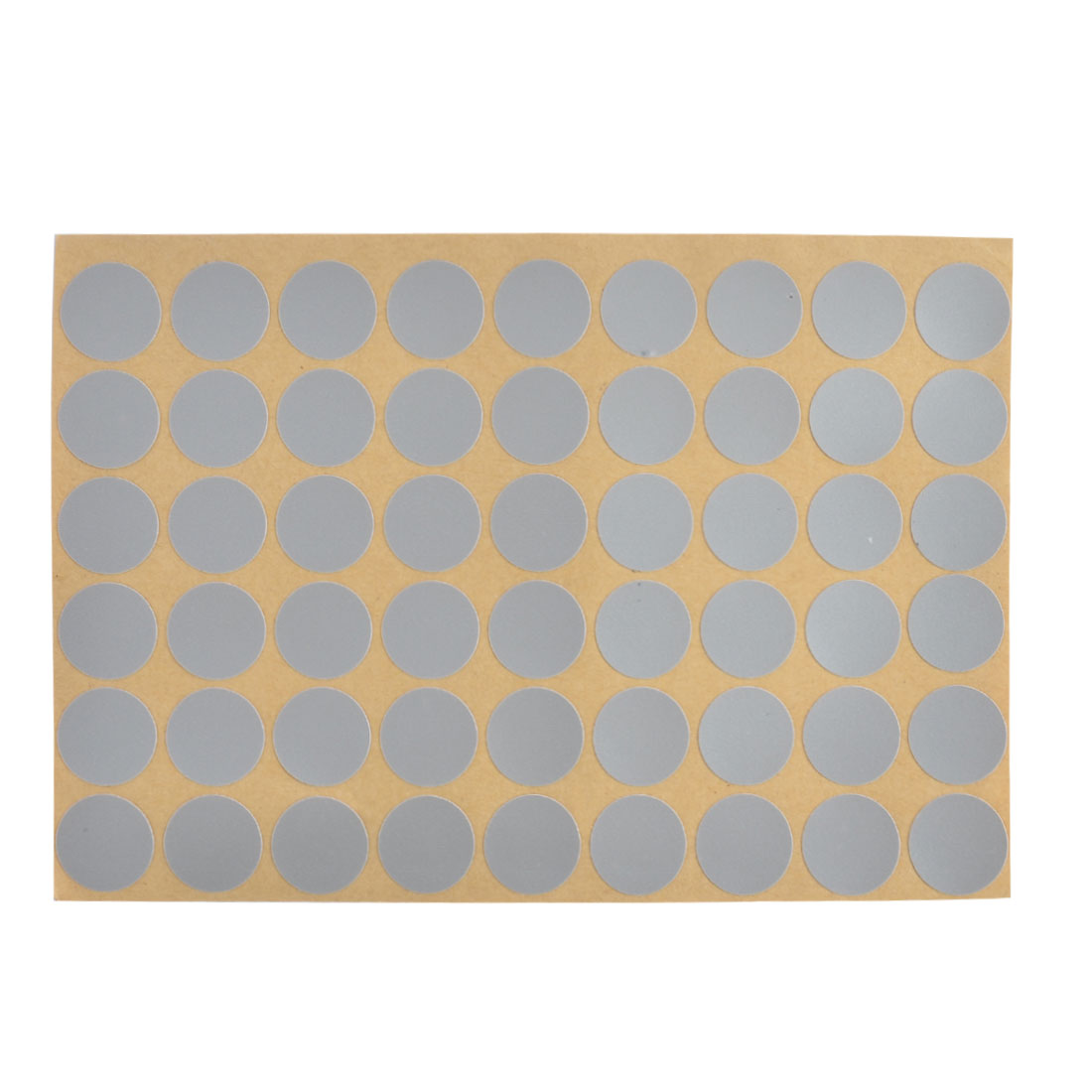 21mm Dia Furniture Self-adhesive Scrub Screw Hole Stickers Sheet Gray 54 in 1