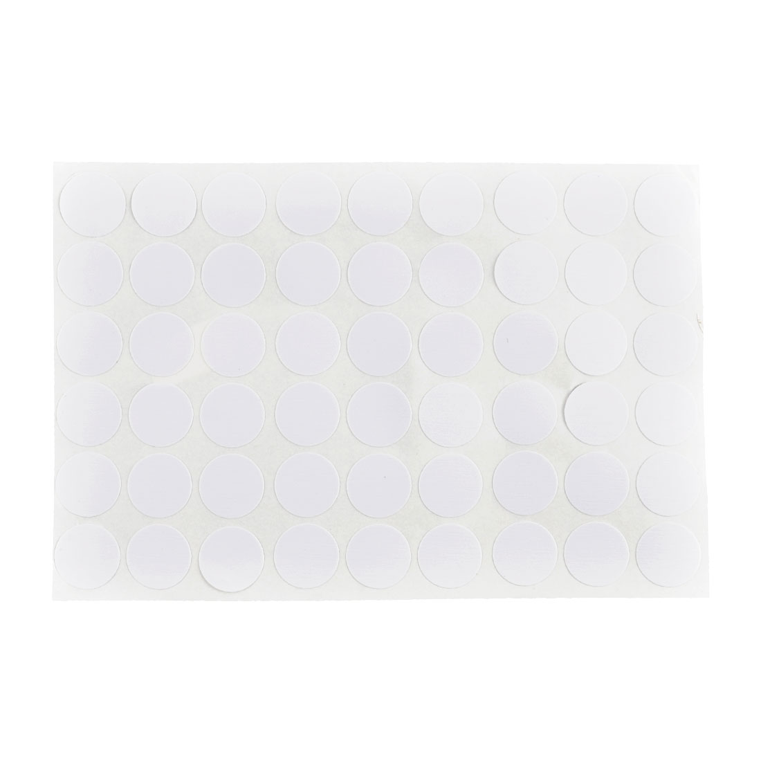 Furniture Self-adhesive Screw Hole Embossed Stickers Covers Sheet White 54 in 1
