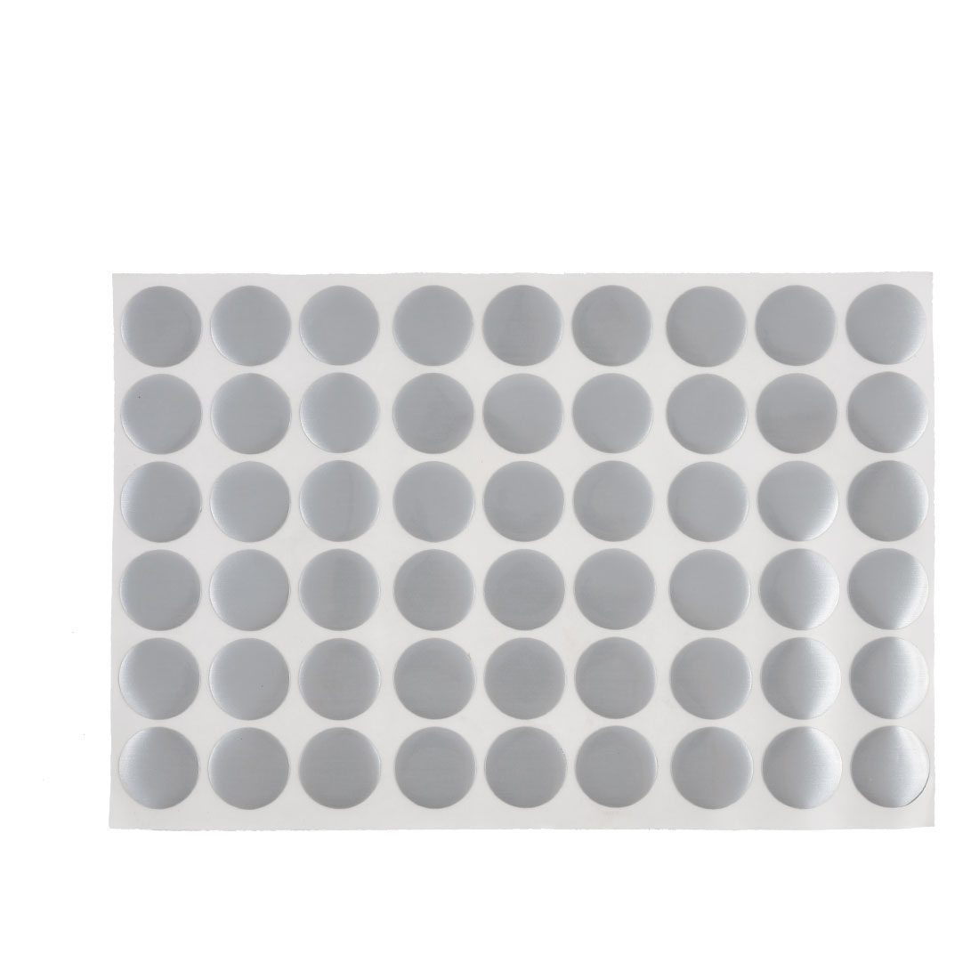 Polish Surface Self-adhesive Screw Hole Stickers Covers Sheet Gray 54 in 1