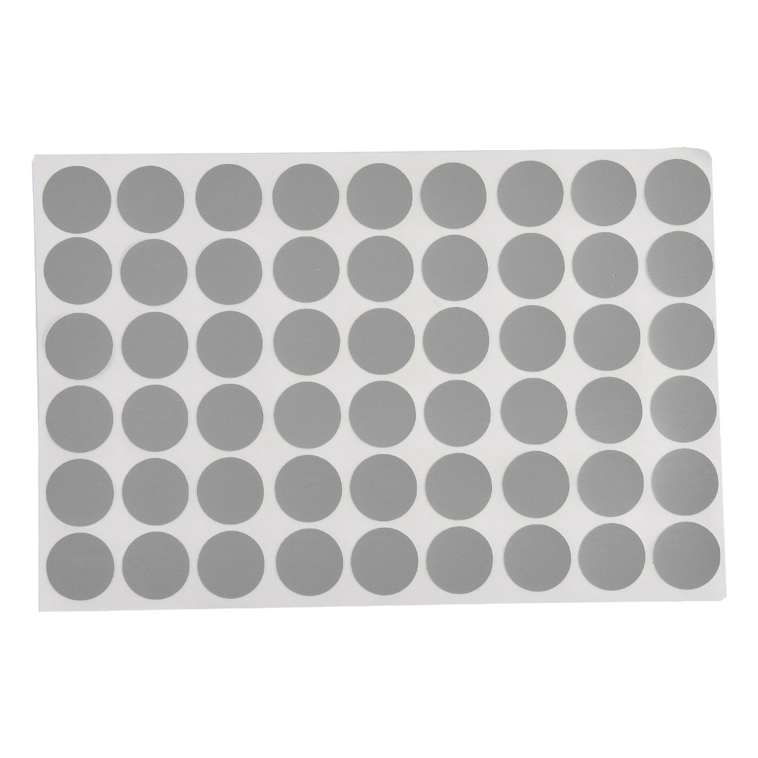 21mm Dia Furniture Self-adhesive Screw Hole Stickers Covers Matte Gray 54 in 1