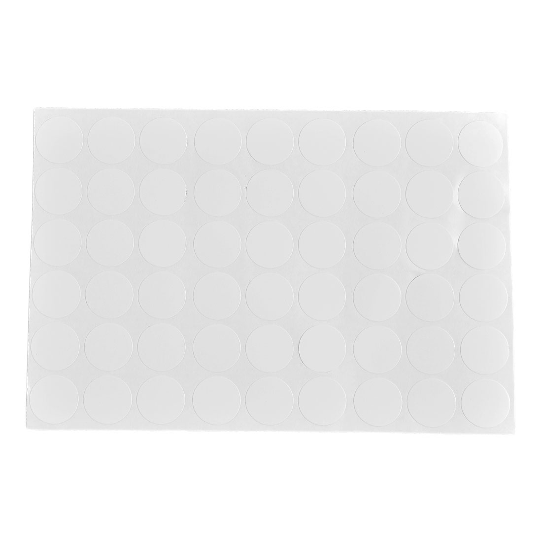 Furniture Self-adhesive Screw Hole Stickers Covers on One Sheet White 54 in 1