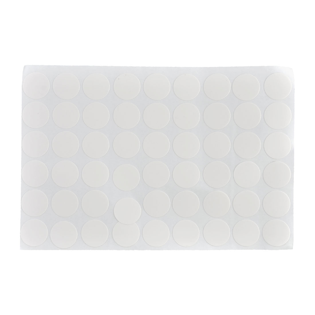 21mm Dia Furniture Plastic Self-adhesive Screw Hole Stickers Matte White 54 in 1