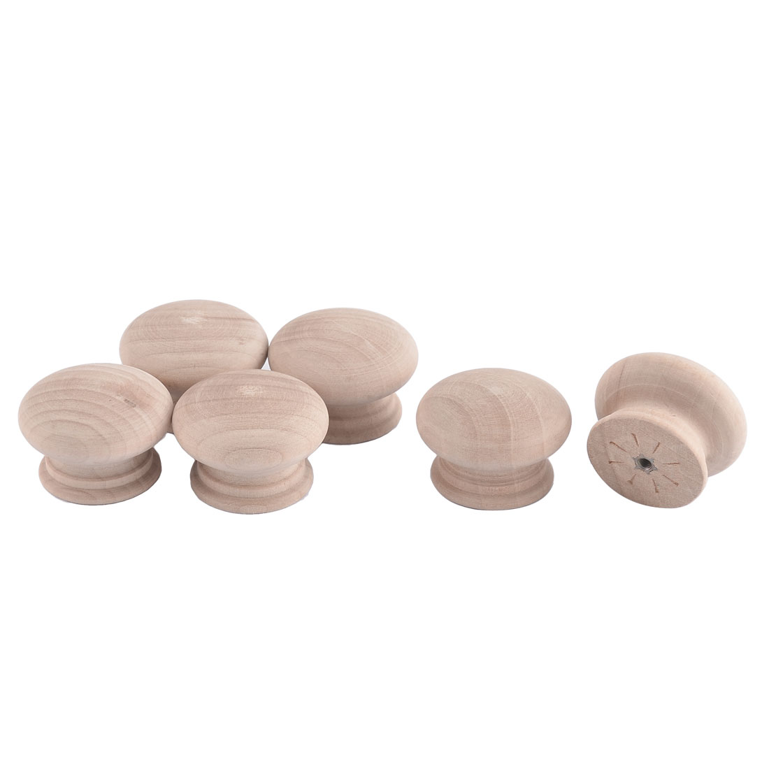 45mm Dia Round Cabinet Drawer Cupboard Closet Door Handle Wooden Pull Knob 6pcs