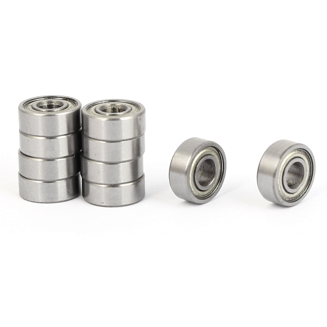 ZZMR83 Deep Groove Ball Bearing 8mm OD 3mm Bore Diameter 10pcs