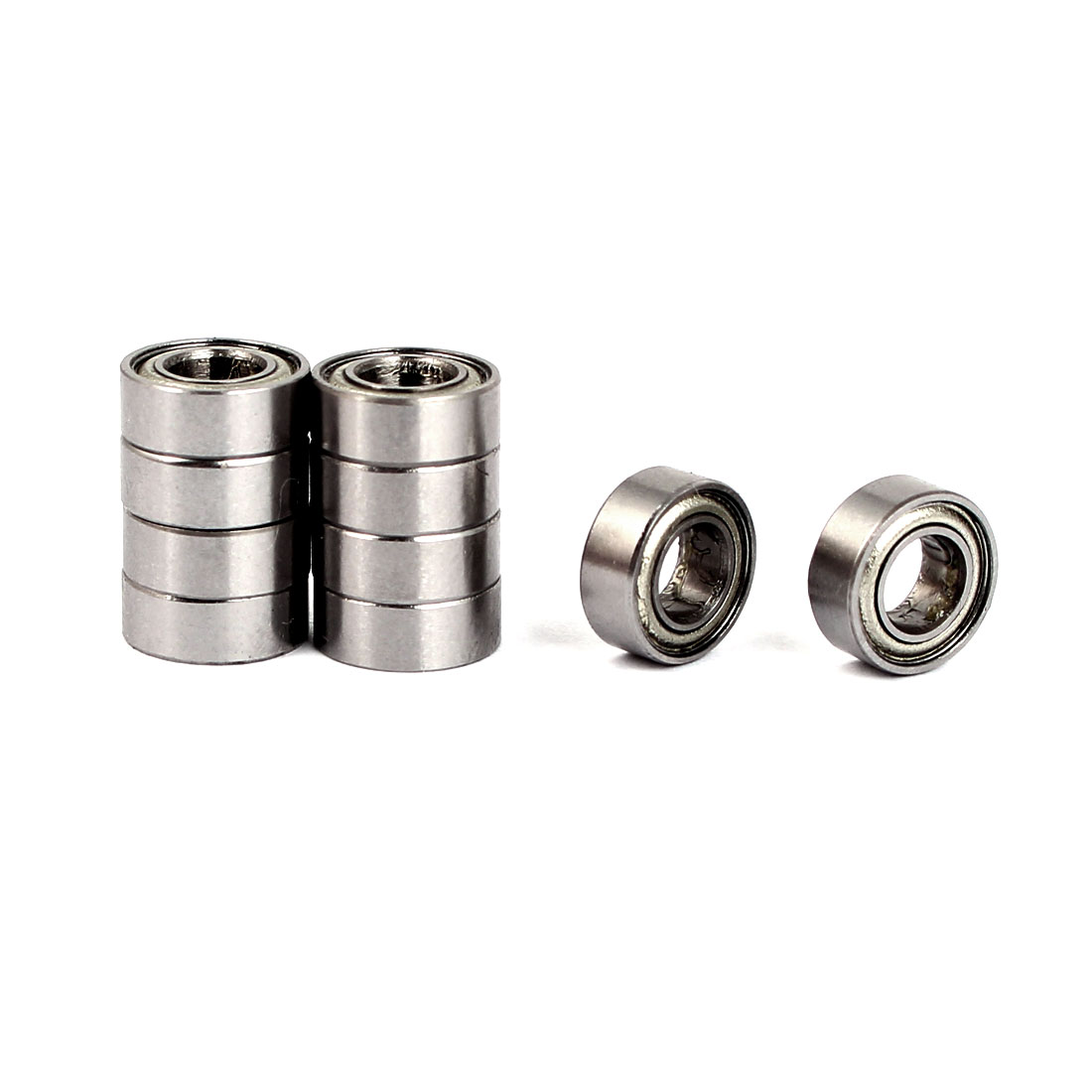 ZZMR84 Deep Groove Ball Bearing 8mm OD 4mm Bore Diameter 10pcs