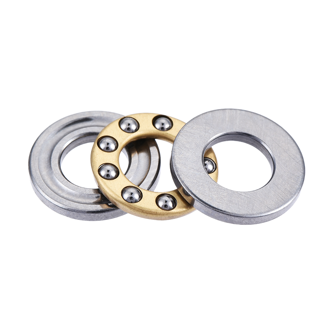 Flat Seat Thrust Ball Bearing 6mm Inner Dia 12mm OD