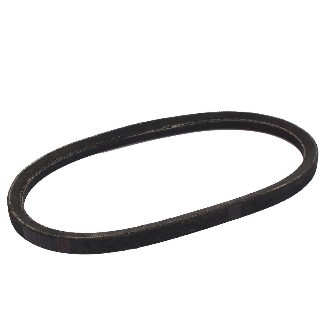 "A19 Type Rubber Machine Transmission Band Drive Vee V Belt 19"" x 1/2"" Black"