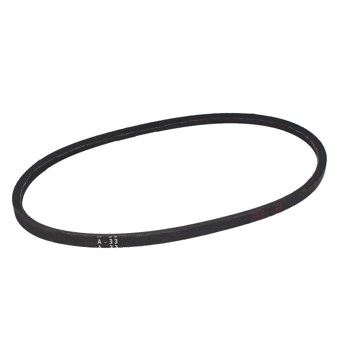 "A33 Type Rubber Machine Transmission Band Drive Vee V Belt 33"" x 1/2"" Black"
