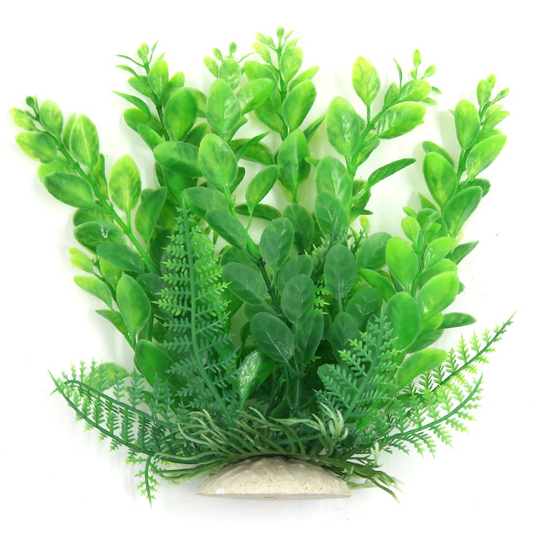Aqua Landscape Fish Tank Decoration Plastic Plant Green 17cm High for Betta