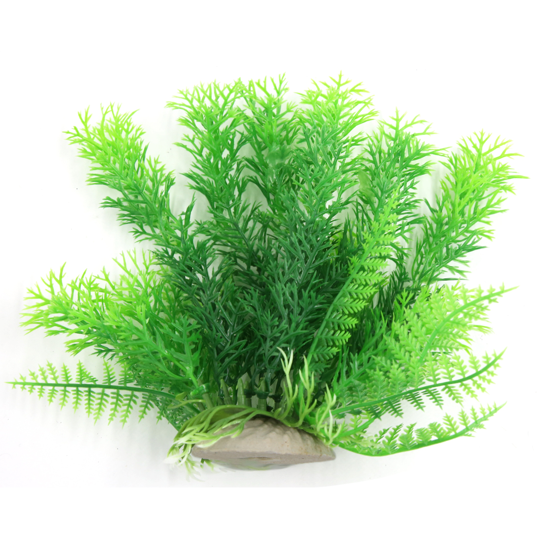 Aqua Landscape Fish Tank Plastic Plant For Betta Green 17cm High