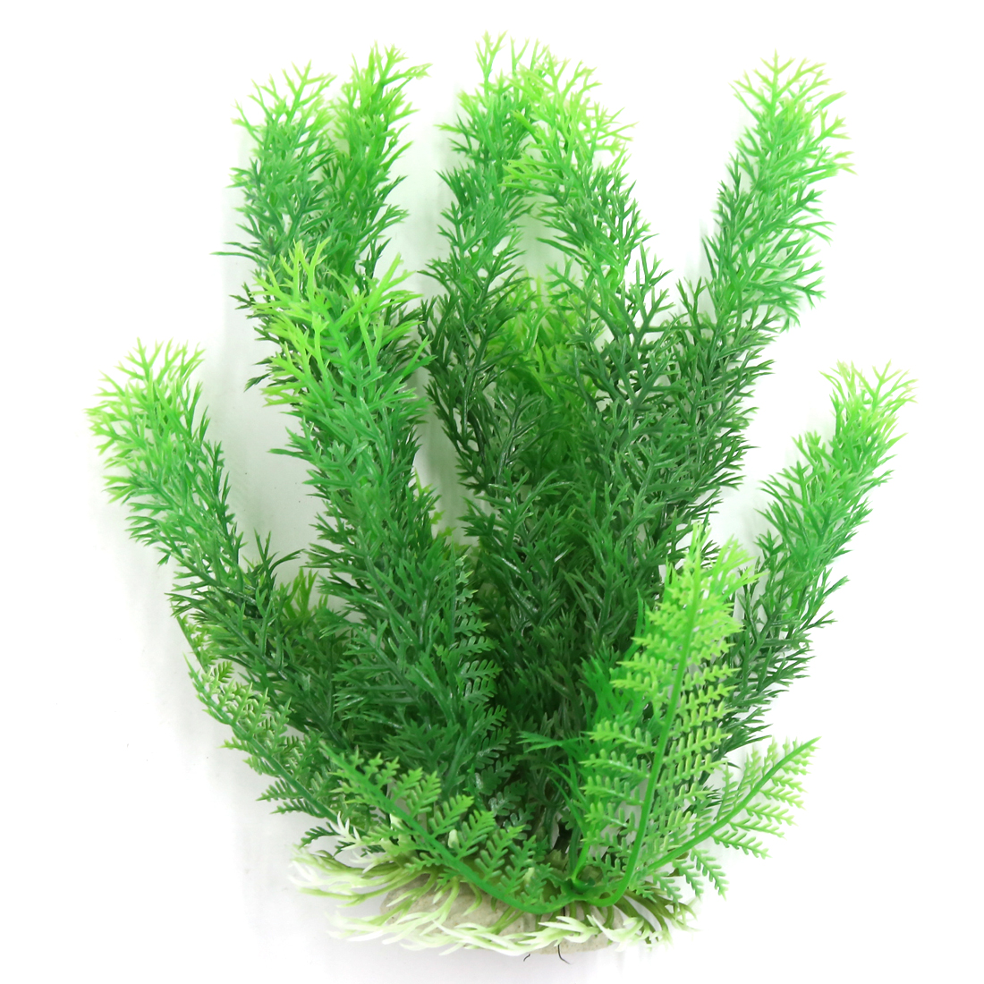 Aqua Landscape Fish Tank Decoration Green Plastic Plant for Betta 23cm