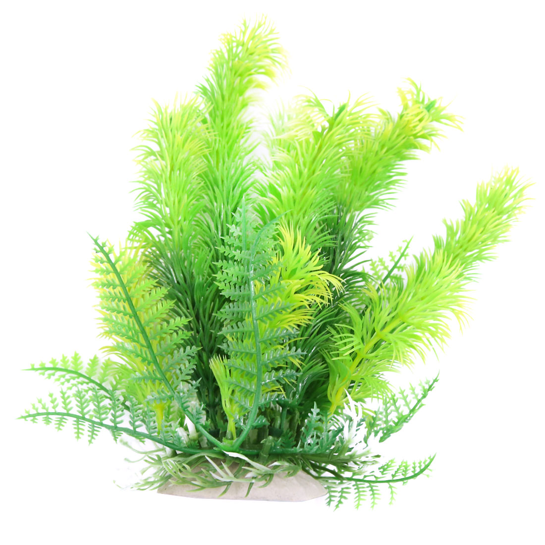 Green 18cm High Aqua Landscape Fish Tank Plastic Plant For Betta