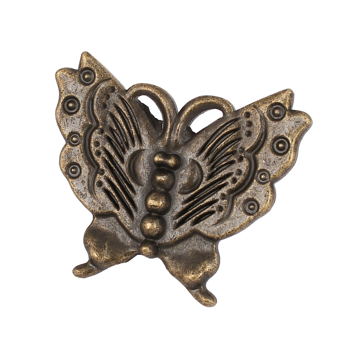 Cupboard Drawer Dresser Butterfly Shape Pull Handle Knob Bronze Tone