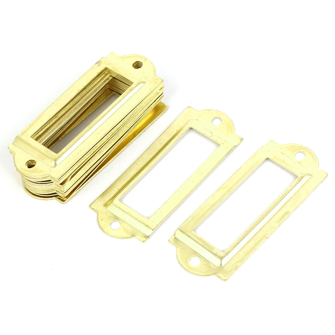 Post Office File Drawer Label Tag Name Card Holder Gold Tone 20pcs