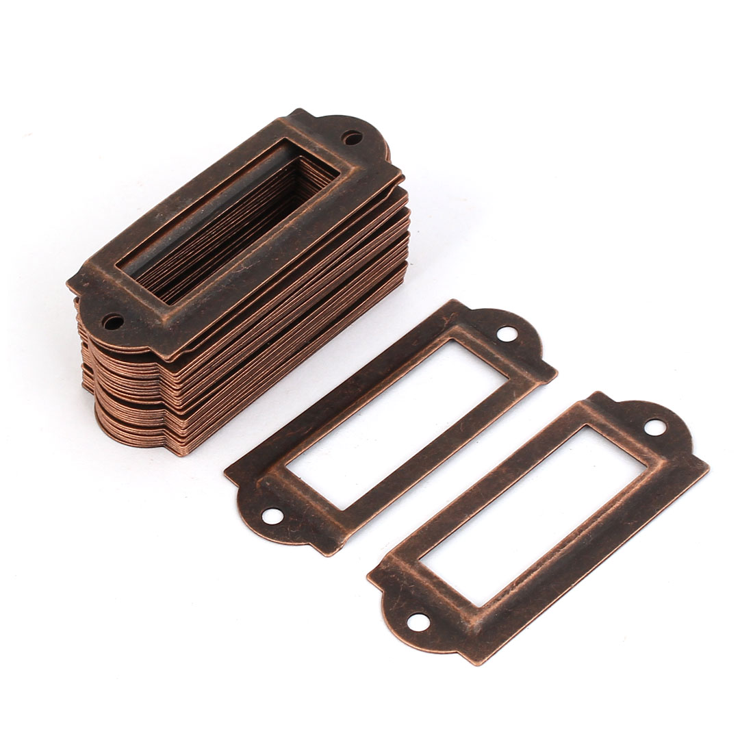 File Drawer Label Tag Name Card Holder Copper Tone 30pcs