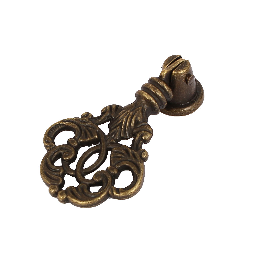 Cabinet Dresser Drawer Alloy Retro Style Pull Handle Knob Bronze Tone