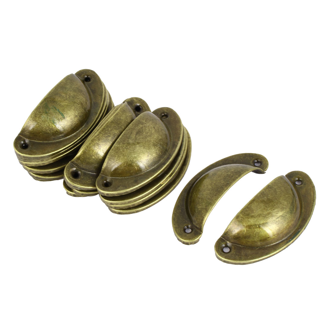"Cupboard Wardrobe Drawer Metal Handle Pull knob Bronze Tone 3.2"" Long 20pcs"