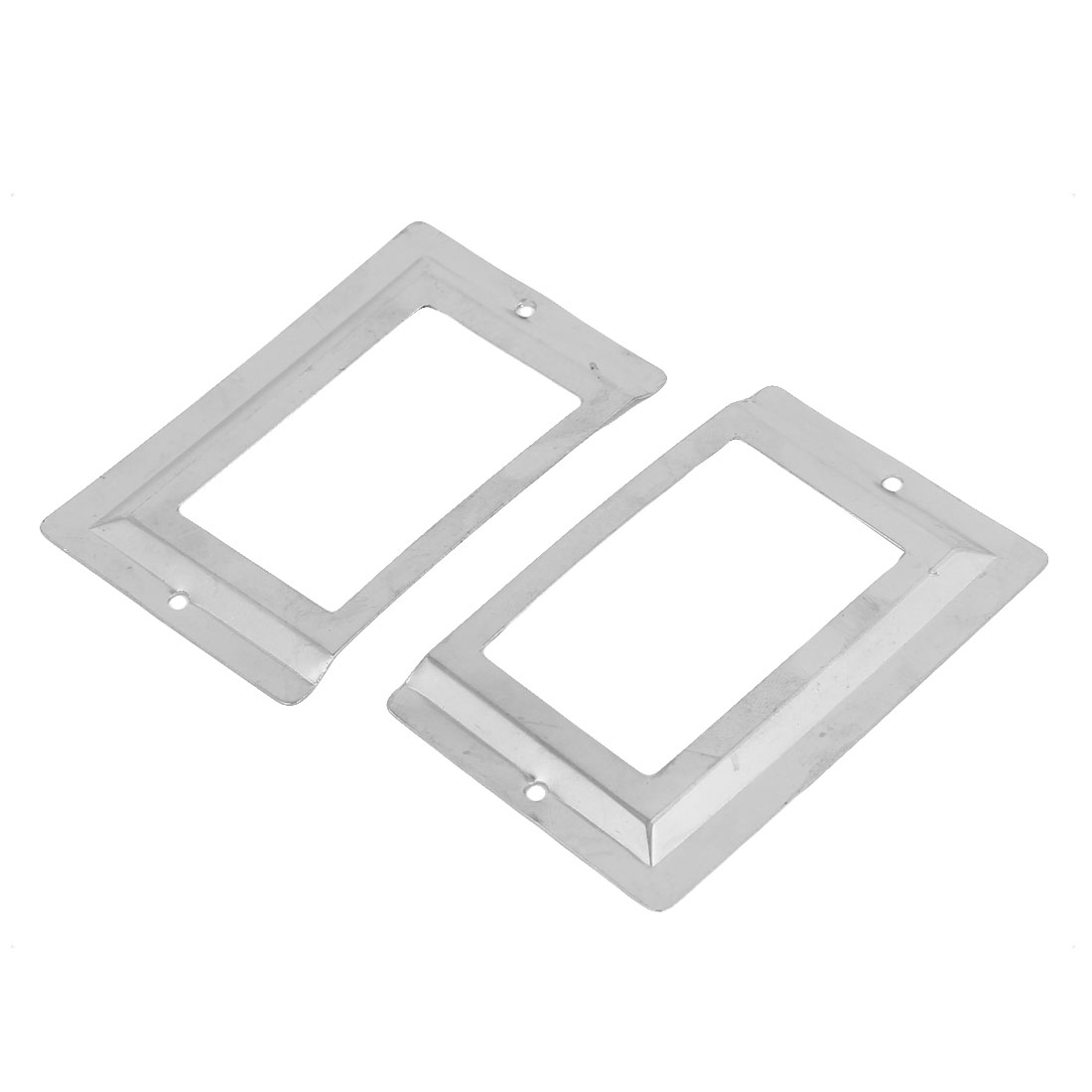 80mm x 51mm File Drawer Label Tag Name Card Holder Silver Tone 2pcs
