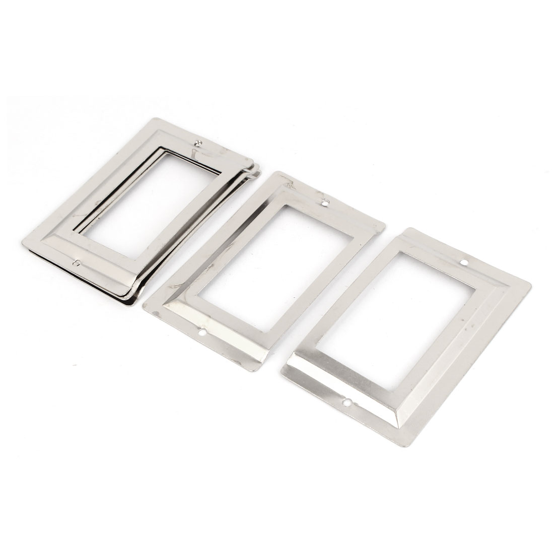 Office Library File Drawer Tag Metal Label Card Holder Silver Tone 5pcs