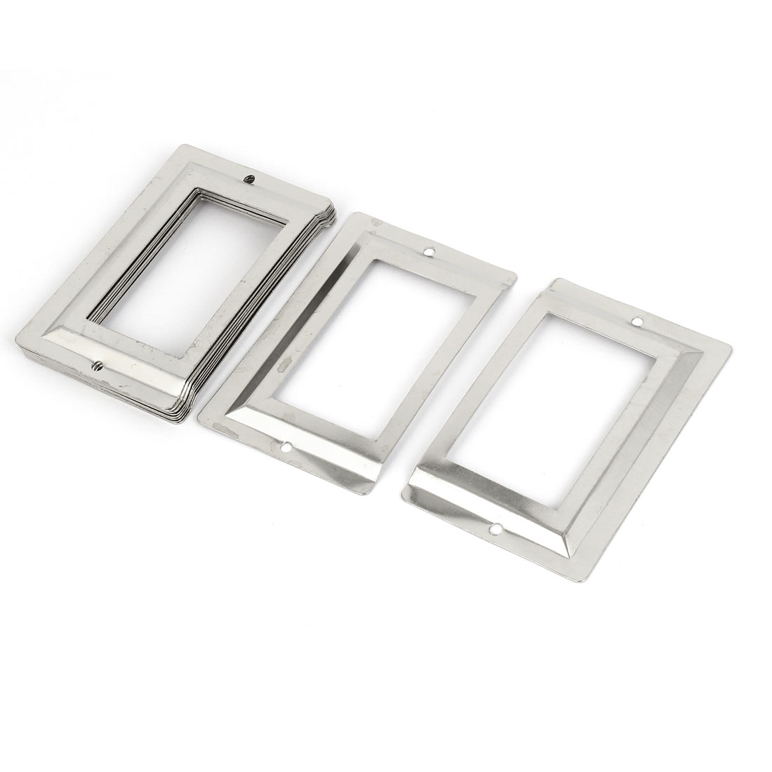 Post Office Library File Drawer Metal Tag Label Holder Silver Tone 10pcs