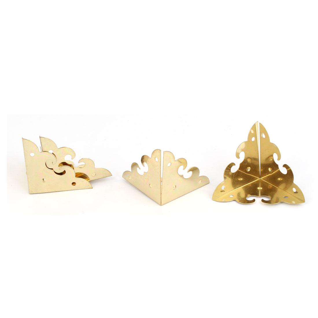 Triangle Corner Protector Gold Tone 4pcs for Box Case