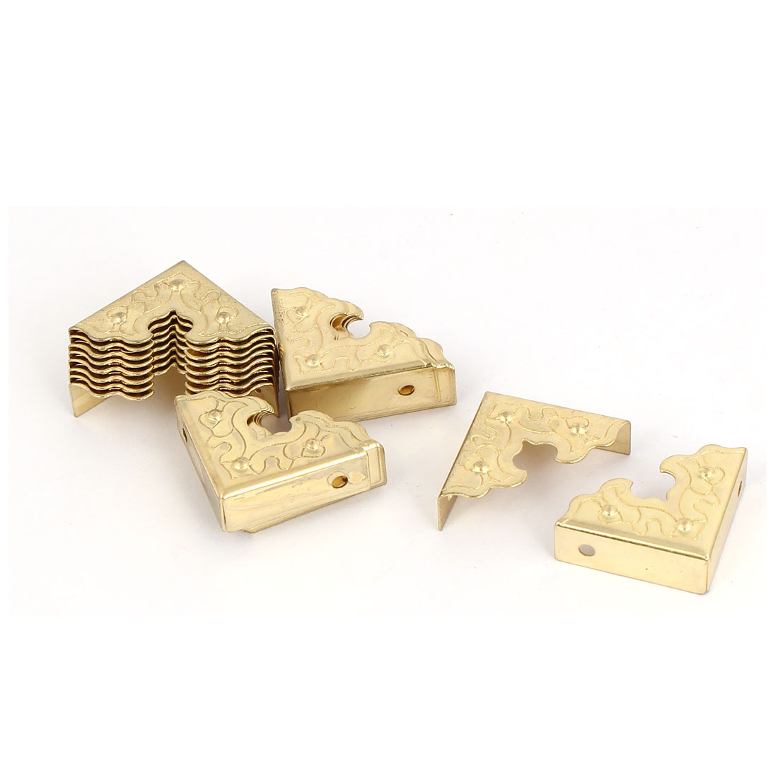 Metal Corner Protector Gold Tone 20pcs for Case Table