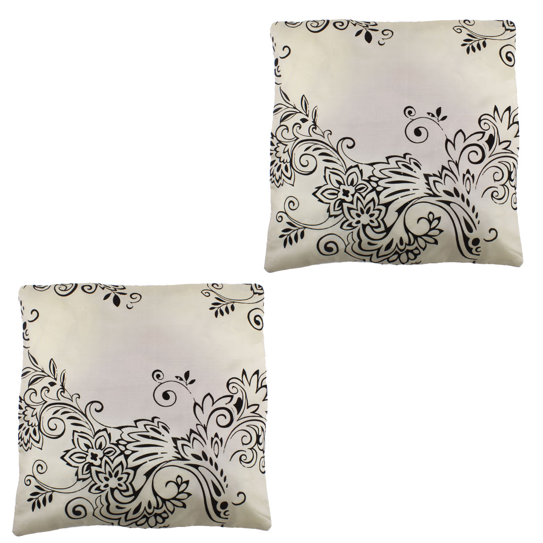 Household Fabric Flower Pattern Single Side Car Seat Waist Cushion Pillow Cover 43 x 43cm 2pcs