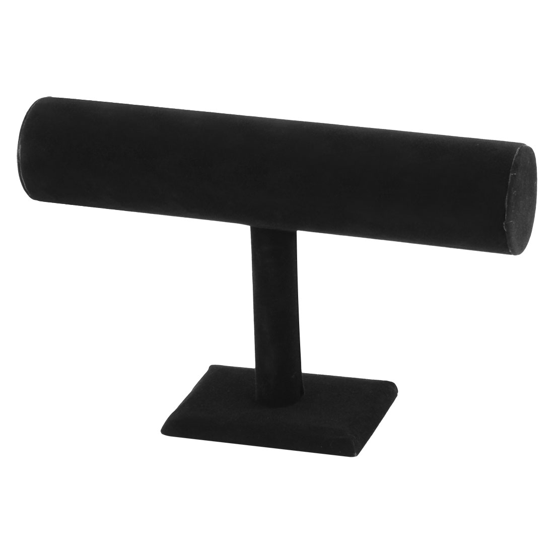 Velvet T-Bar Display Necklace Jewelry Watch Bangle Bracelet Organizer Stand Holder Black