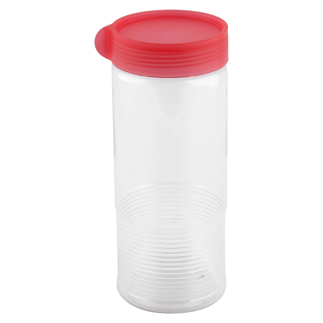 Household Plastic Cylindrical Shaped Food Storage Lid Seal Box Container Fuchsia 900ML