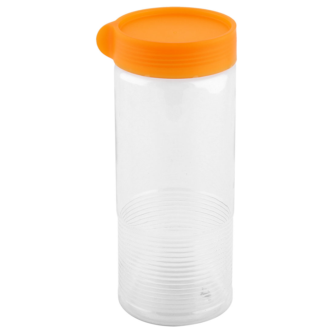Household Plastic Cylindrical Shaped Food Storage Lid Seal Box Container Orange 900ML