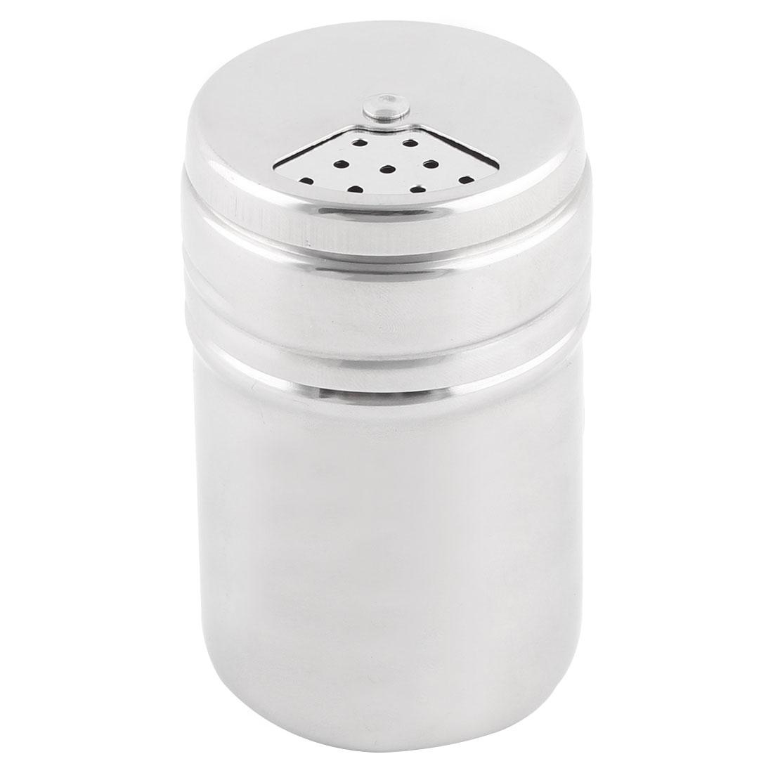 Kitchenware Stainless Steel Spice Salt Pepper Shaker Condiment Cruet Bottle 3.2 Inch High