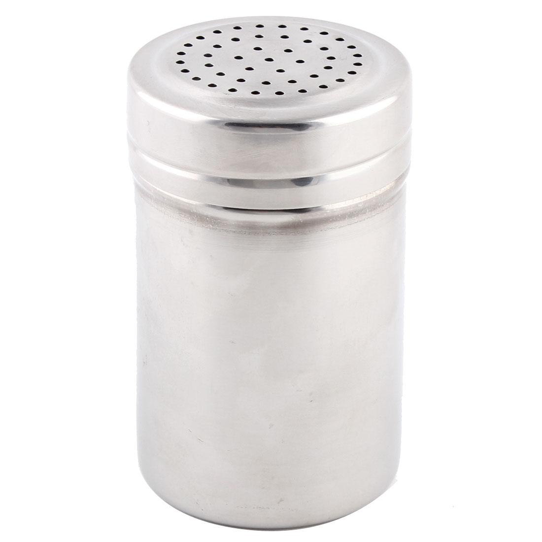 Household Stainless Steel Multi Holes Outlet Spice Salt Pepper Shaker Cruet Bottle 2.8 Inch High