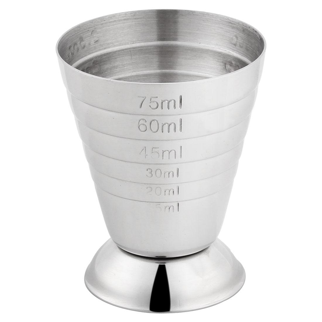 Kitchen Baking Stainless Steel Beaker Water Liquid Measuring Cup Holder 75ml
