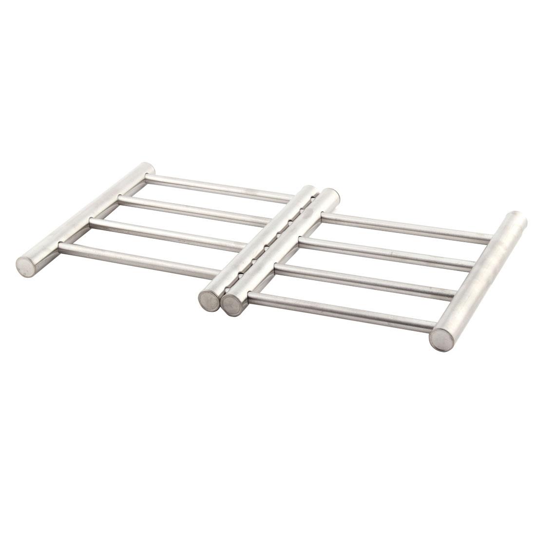 Kitchenware Stainless Steel Scalable Pot Pan Holder Heat Insulation Shelf Rack