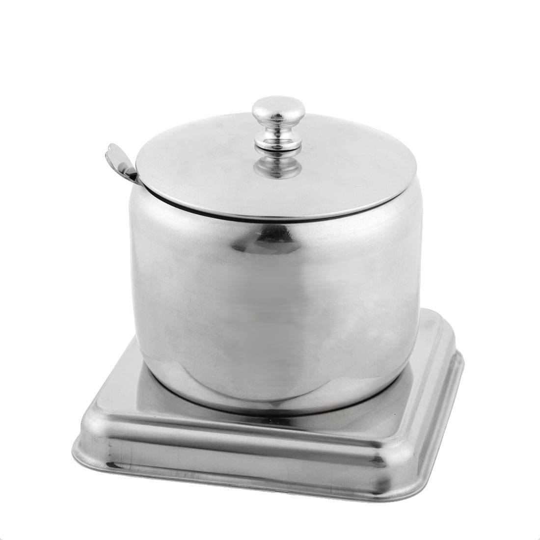 Restaurant Stainess Stell Drum Style Moveable Base Spice Salt Pepper Condiment Cruet Can