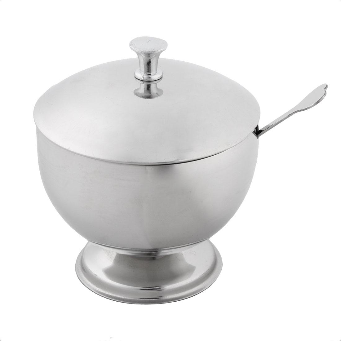 Restaurant Stainess Stell Round Shaped Spice Salt Papper Condiment Cruet Bowl