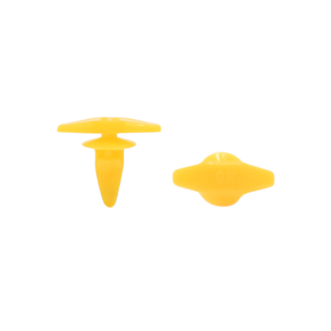 6.5mm Hole Yellow Plastic Car Bumper Splash Guard Clips Rivet Fastener 20PCS