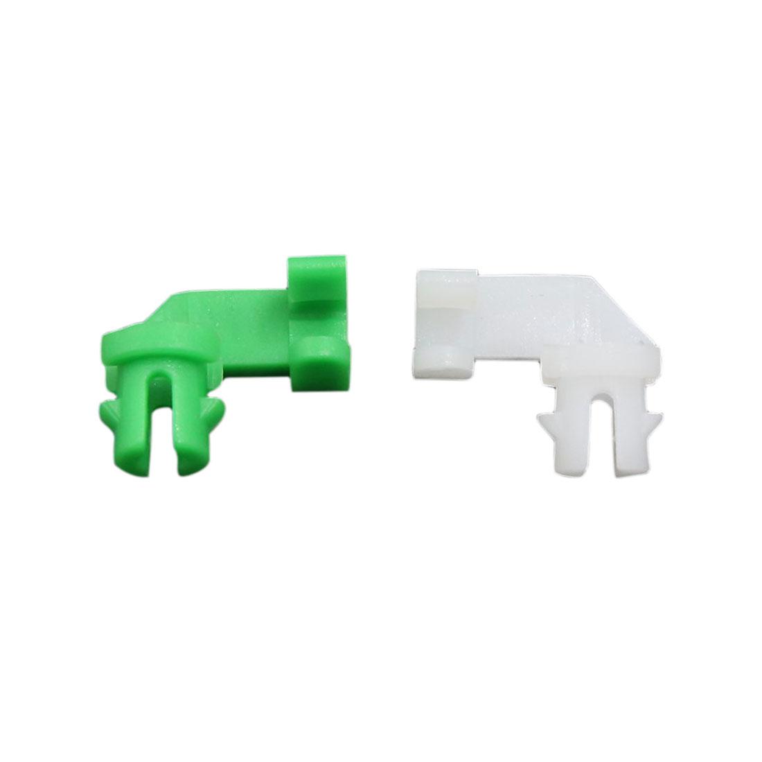 20pcs White Green Dual Colors Plastic Rivet Trim Fastener Moulding Clips for Car