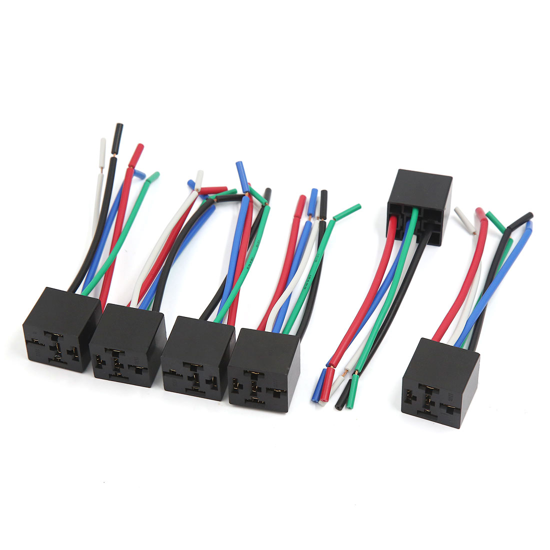 6Pcs 5 Pin Plastic Window Lifter Push Button Switch Wire Wiring Harness Cable for Car