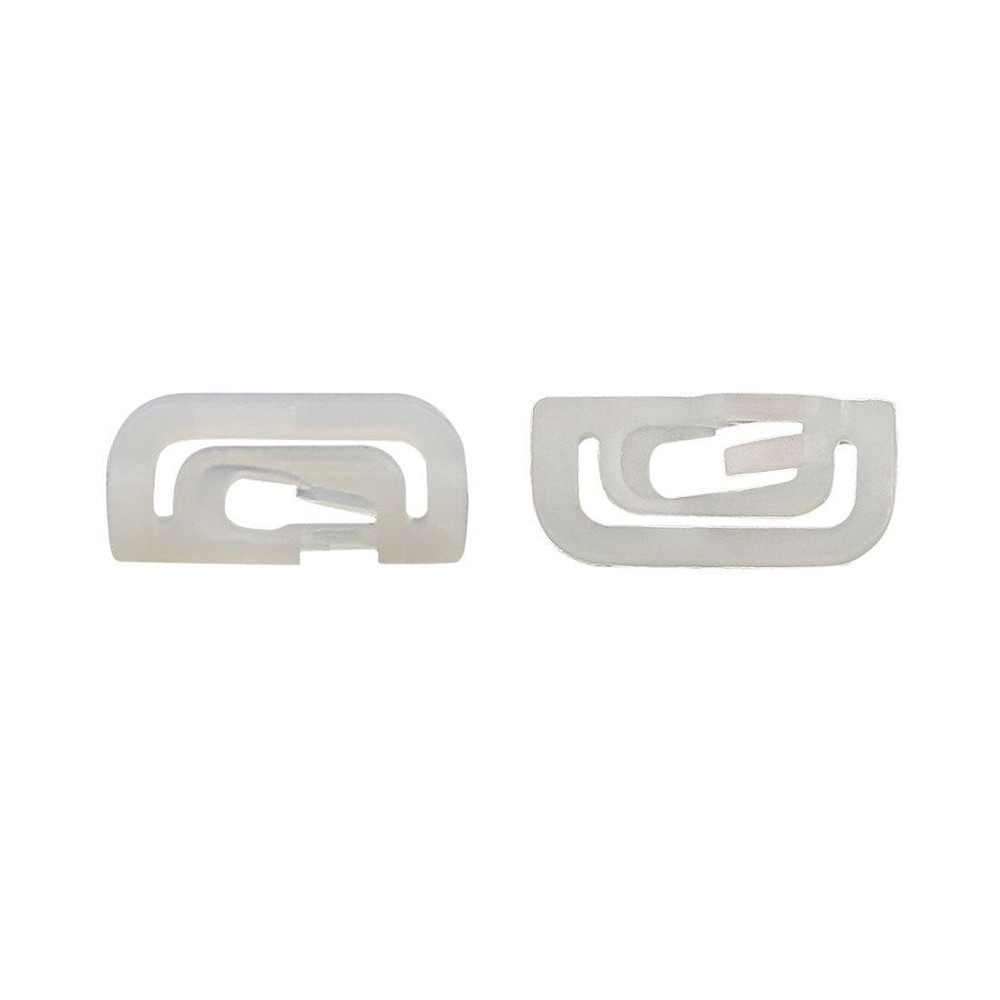 85 Pcs White Plastic Rivets Retainer Clip Bumper Fender For Auto Car