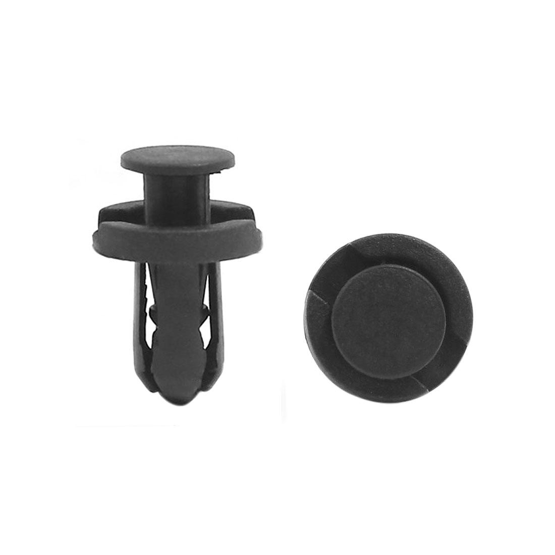 100 Pcs 10mm Hole Plastic Bumper Clips Panel Fastener Trim Clip Black For Honda