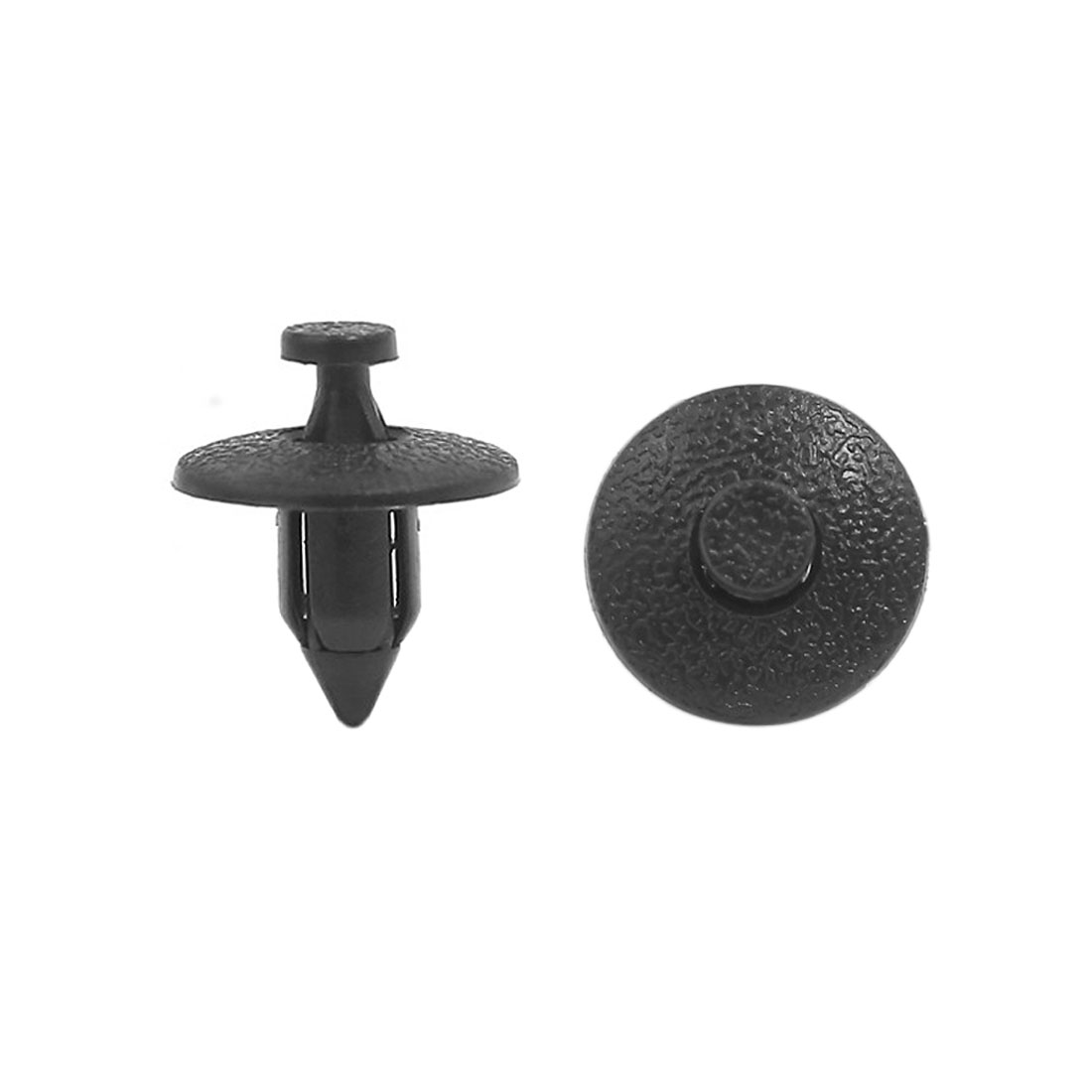 100 Pcs Plastic Automobile Car Push Fastener Rivets Fender Clips Black 8mm