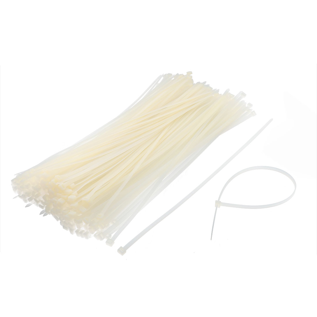 Household Nylon Self Lock Network Cable Tie Zip Fasten Wire Beige 8 x 500mm 250 Pcs