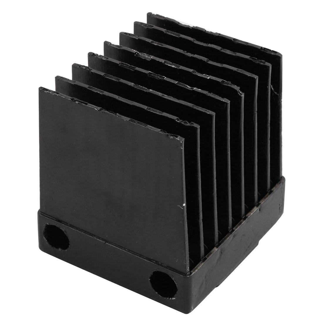 75mmx75mmx74mmmm Aluminium Heats Dissipate Cooling Fin Cooler Black