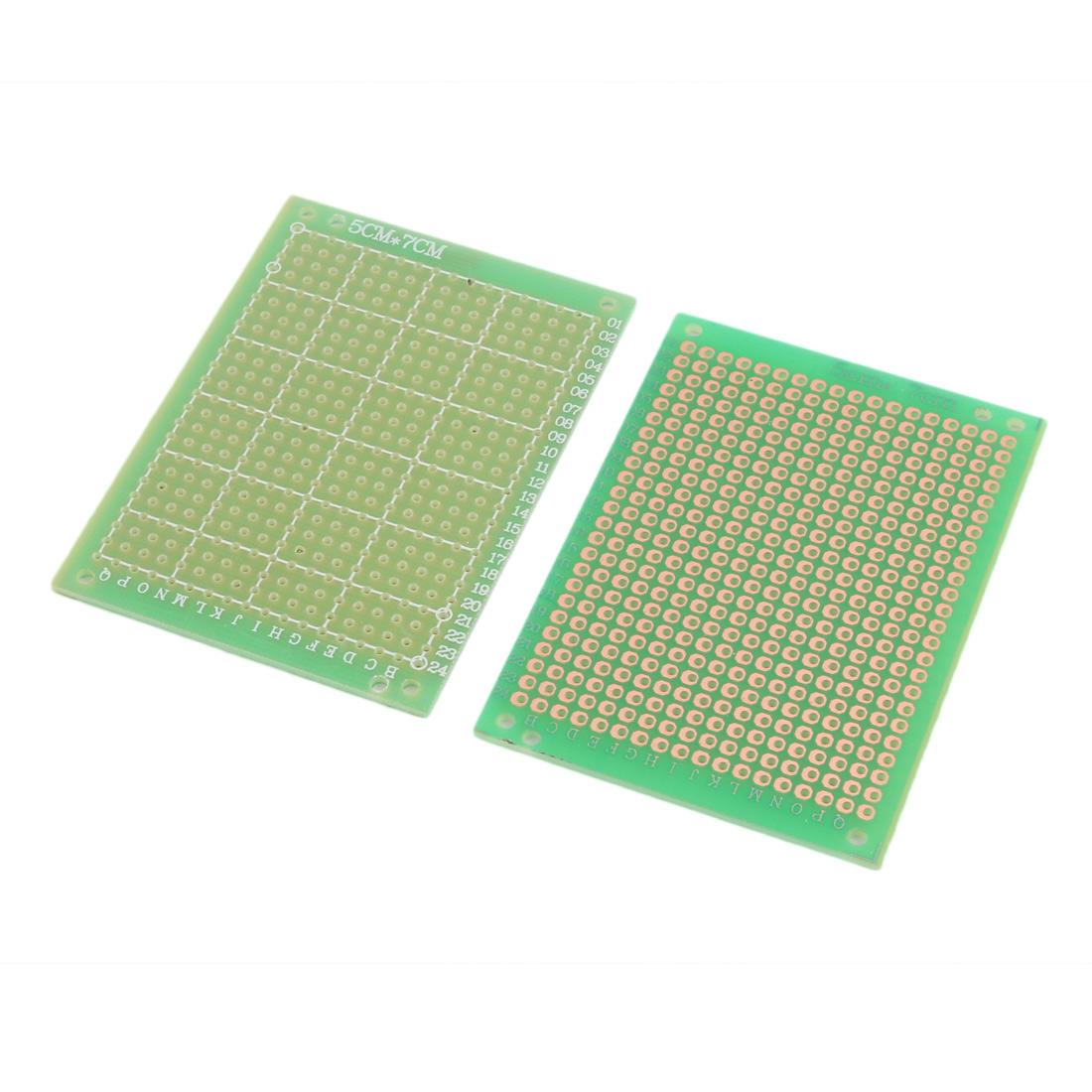 2 Pcs Copper Prototyping PCB Circuit Board Stripboard 70x50mm
